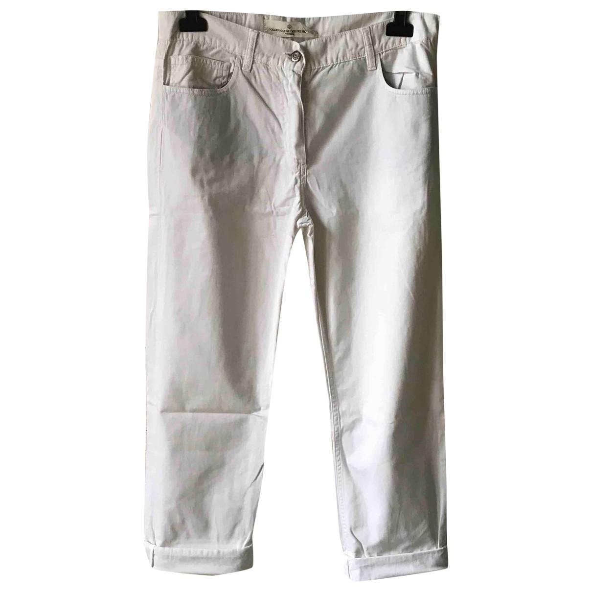 Golden Goose - Pantalon   pour femme en coton - blanc