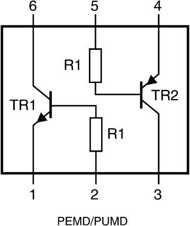 Nexperia PUMZ2,115 Dual NPN + PNP Transistor, 150 mA, 50 V, 6-Pin UMT (50)