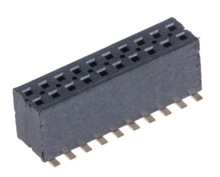 Samtec , FLE 1.27mm Pitch 20 Way 2 Row Straight PCB Socket, Surface Mount, SMT Termination