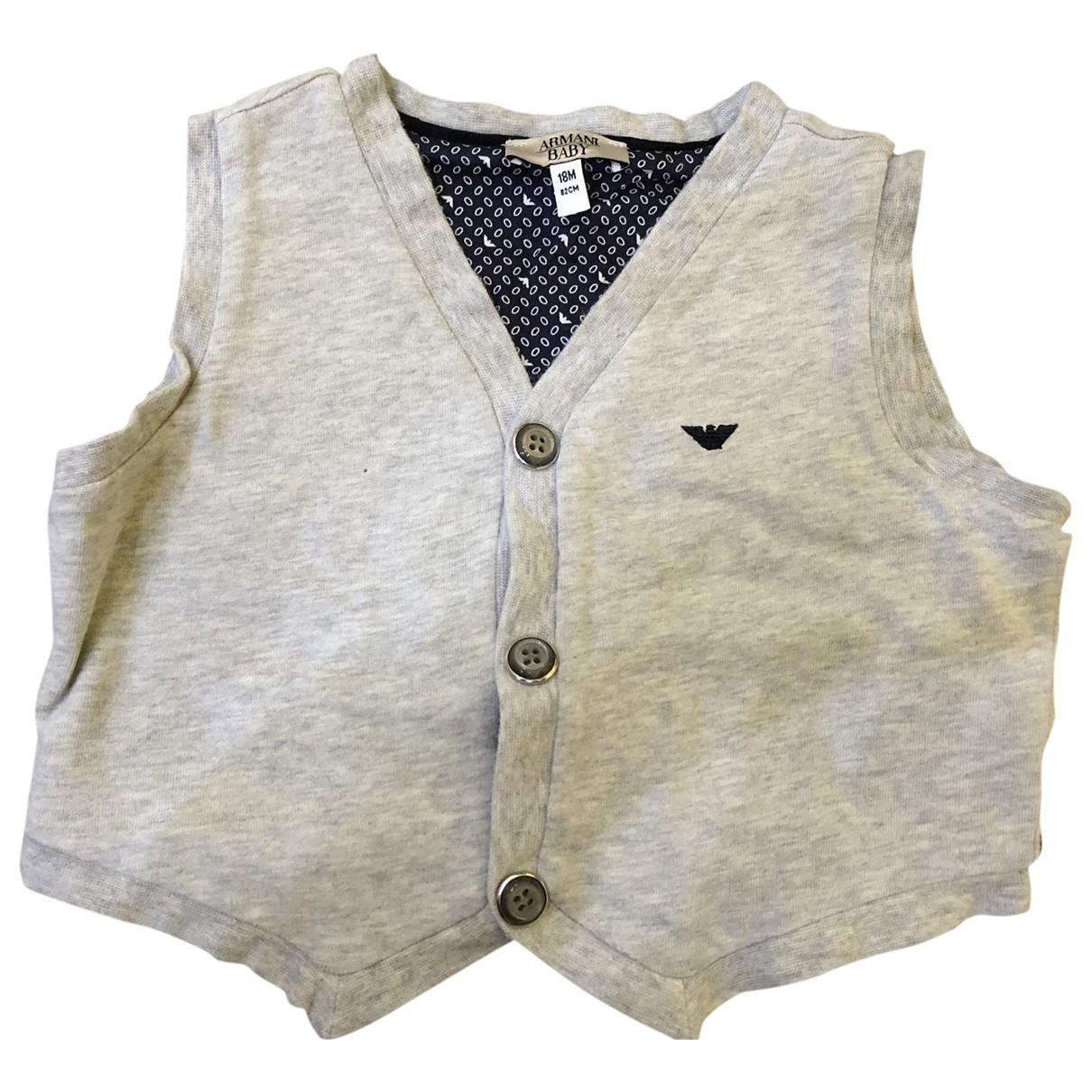 Armani Baby \N Pullover, StrickJacke in  Grau Baumwolle