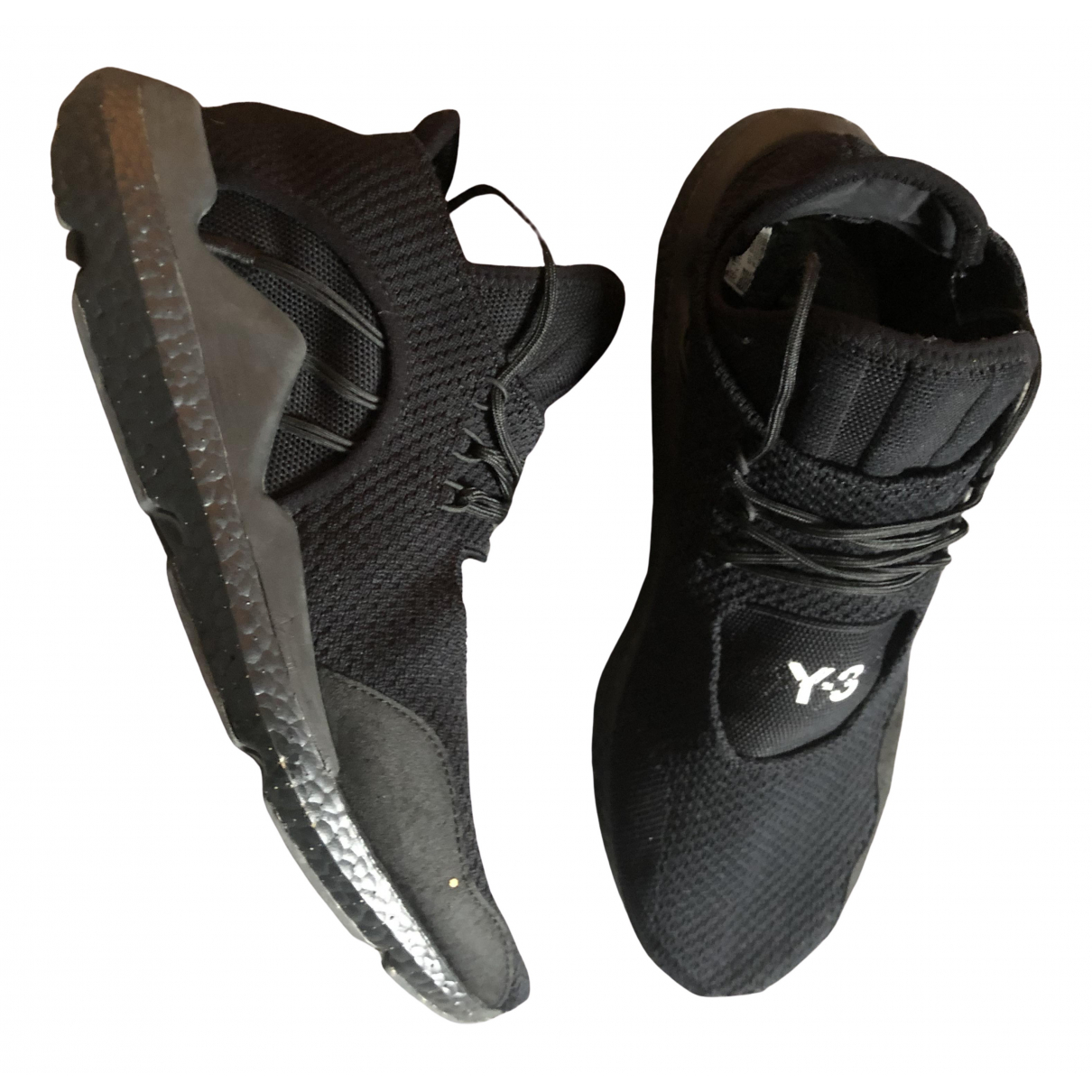 Y-3 \N Black Cloth Trainers for Men 45 EU