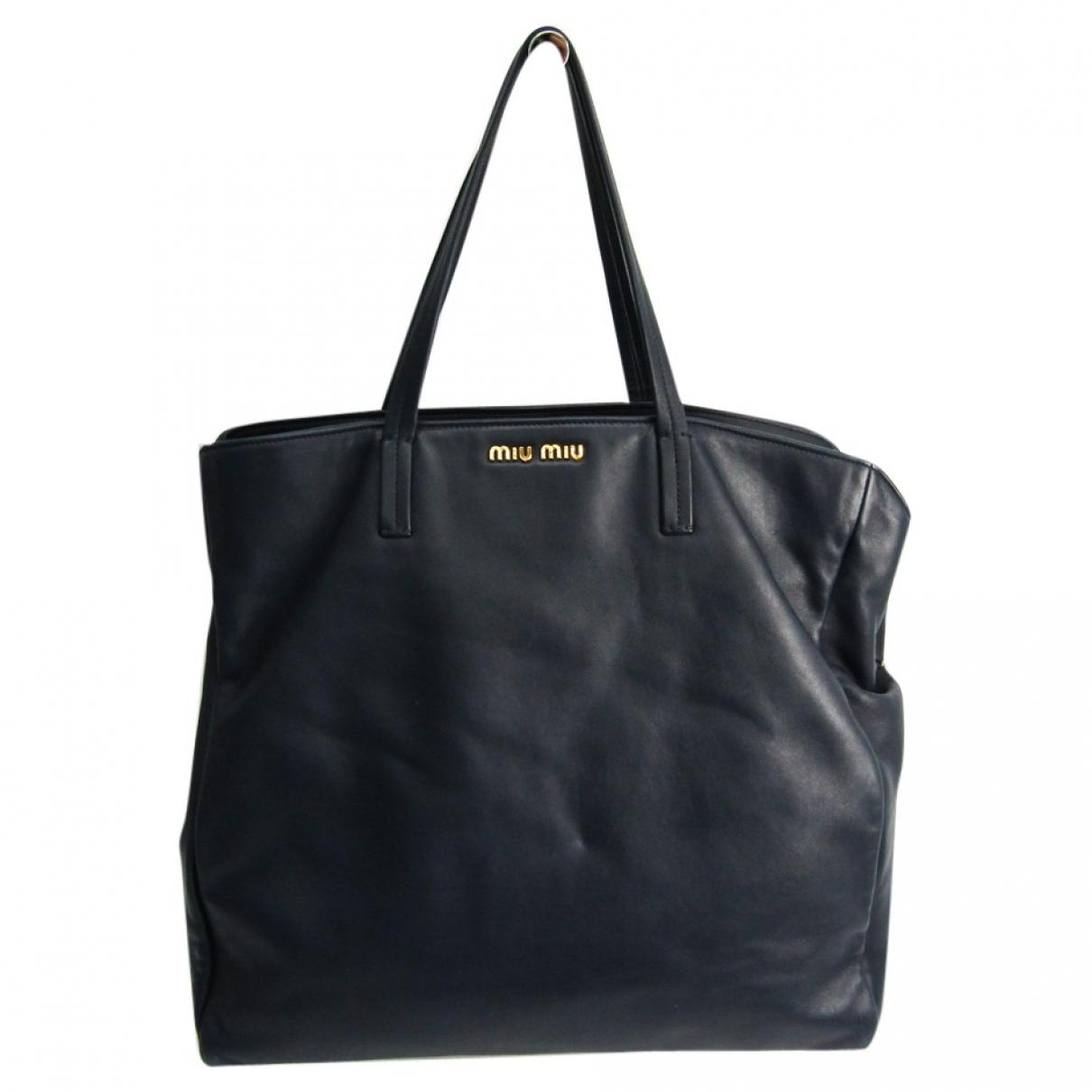 Miu Miu N Navy Leather handbag for Women N