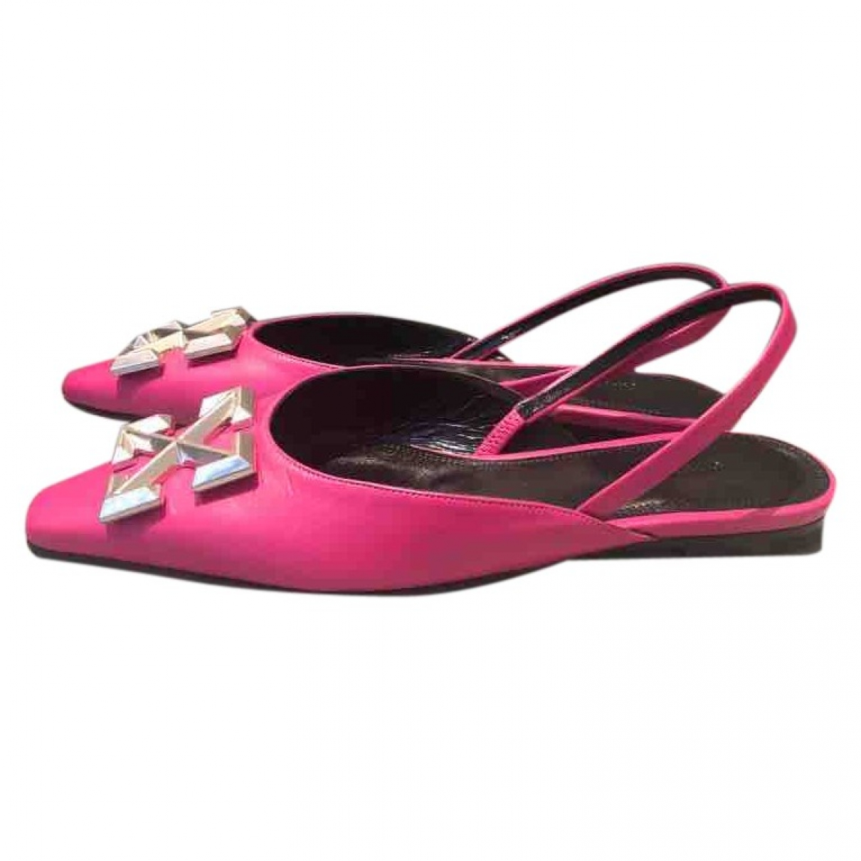 Off-white \N Leather Ballet flats for Women 41 EU