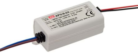 Mean Well APV-8 AC-DC, DC-DC Constant Voltage LED Driver 8W 24V