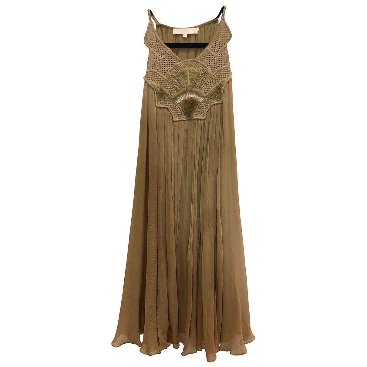 Vanessa Bruno - Robe   pour femme en soie - camel