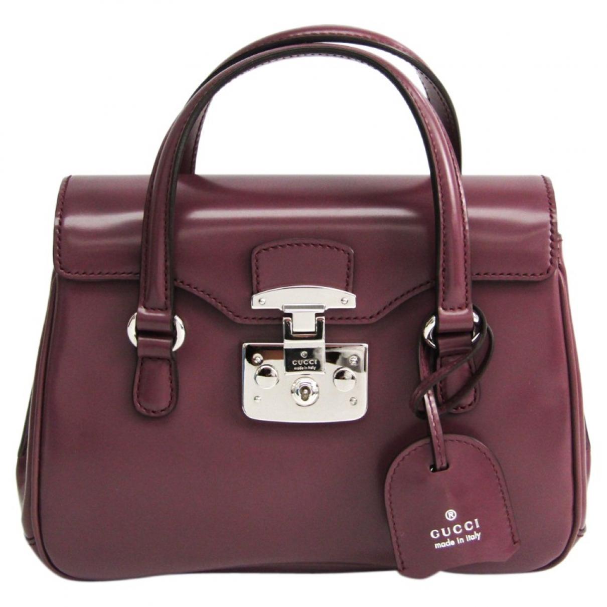 Gucci Lady Lock Purple Leather handbag for Women \N
