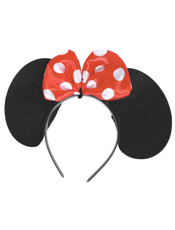 Kostuemzubehor Haarreif Maus mit Schleife Farbe: schwarz
