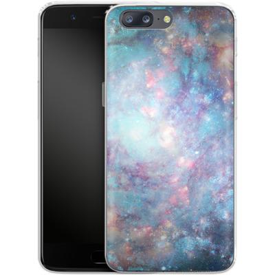 OnePlus 5 Silikon Handyhuelle - Abstract Galaxy - Blue von Barruf