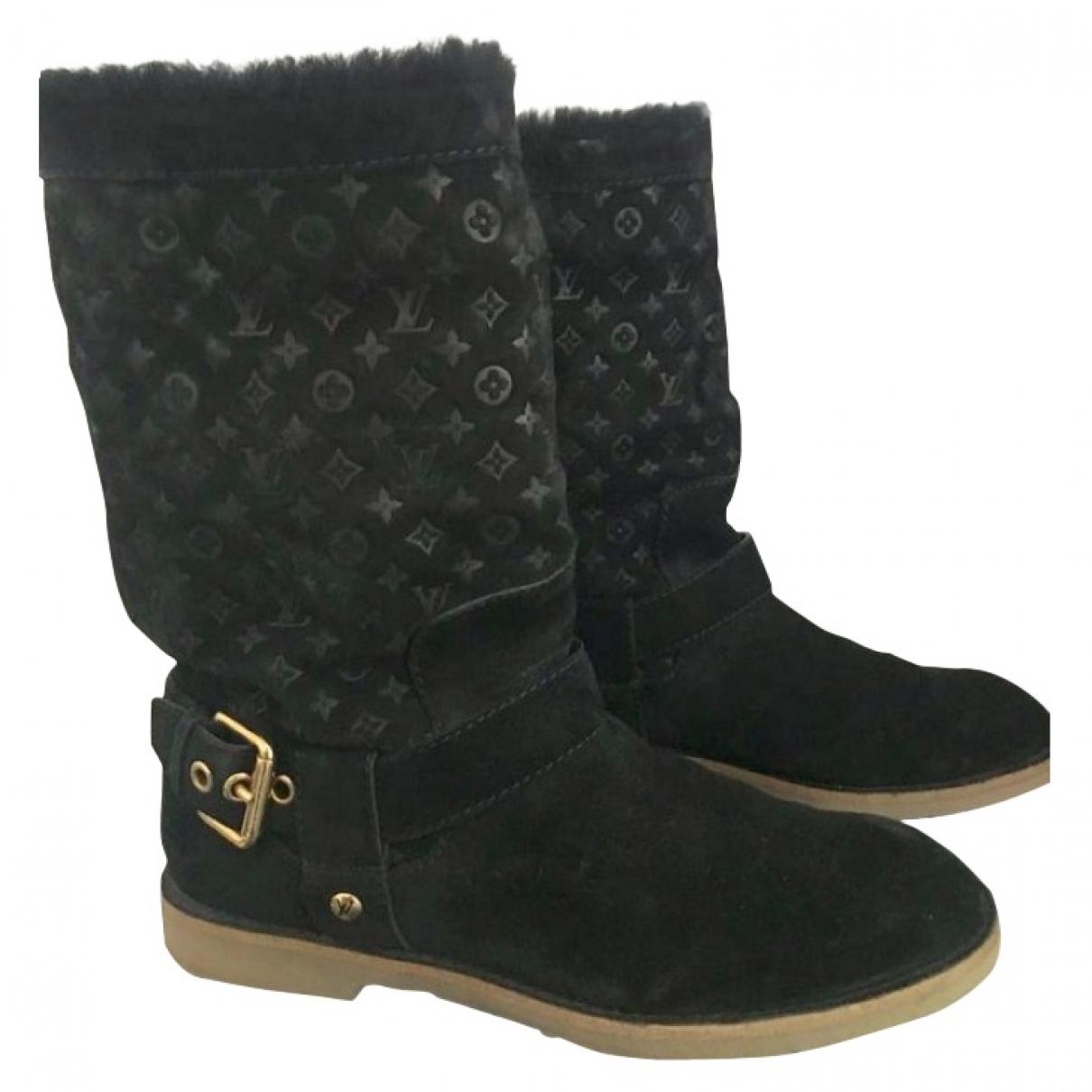 Louis Vuitton \N Black Suede Boots for Women 36 EU