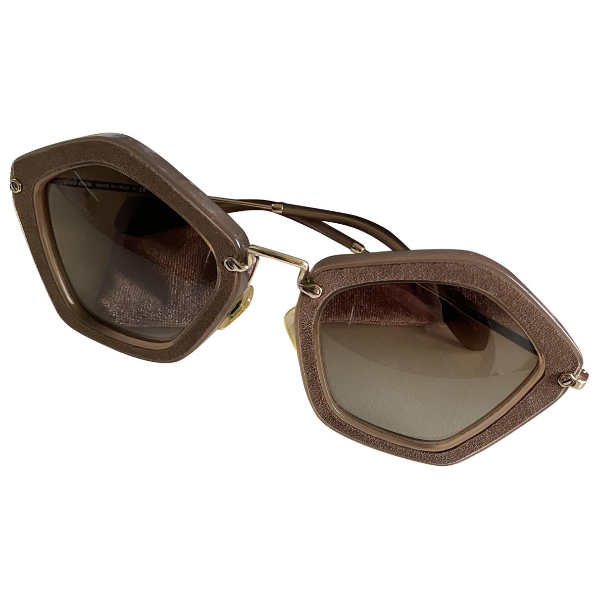 Miu Miu \N Beige Sunglasses for Women \N