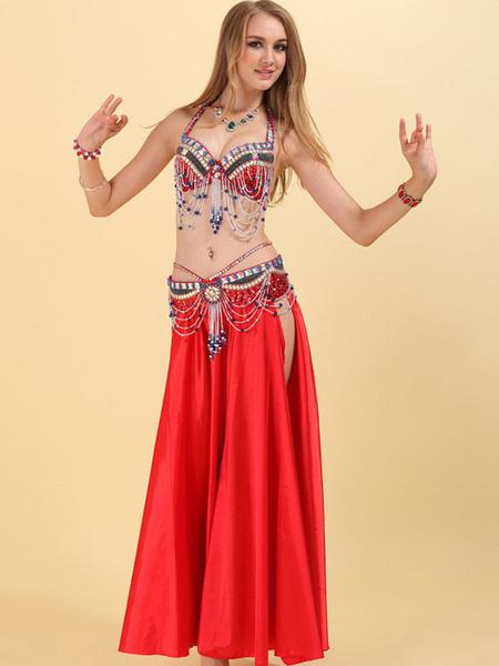 Milanoo Belly Dance Set 3 Piece Costume Women Performance Costume