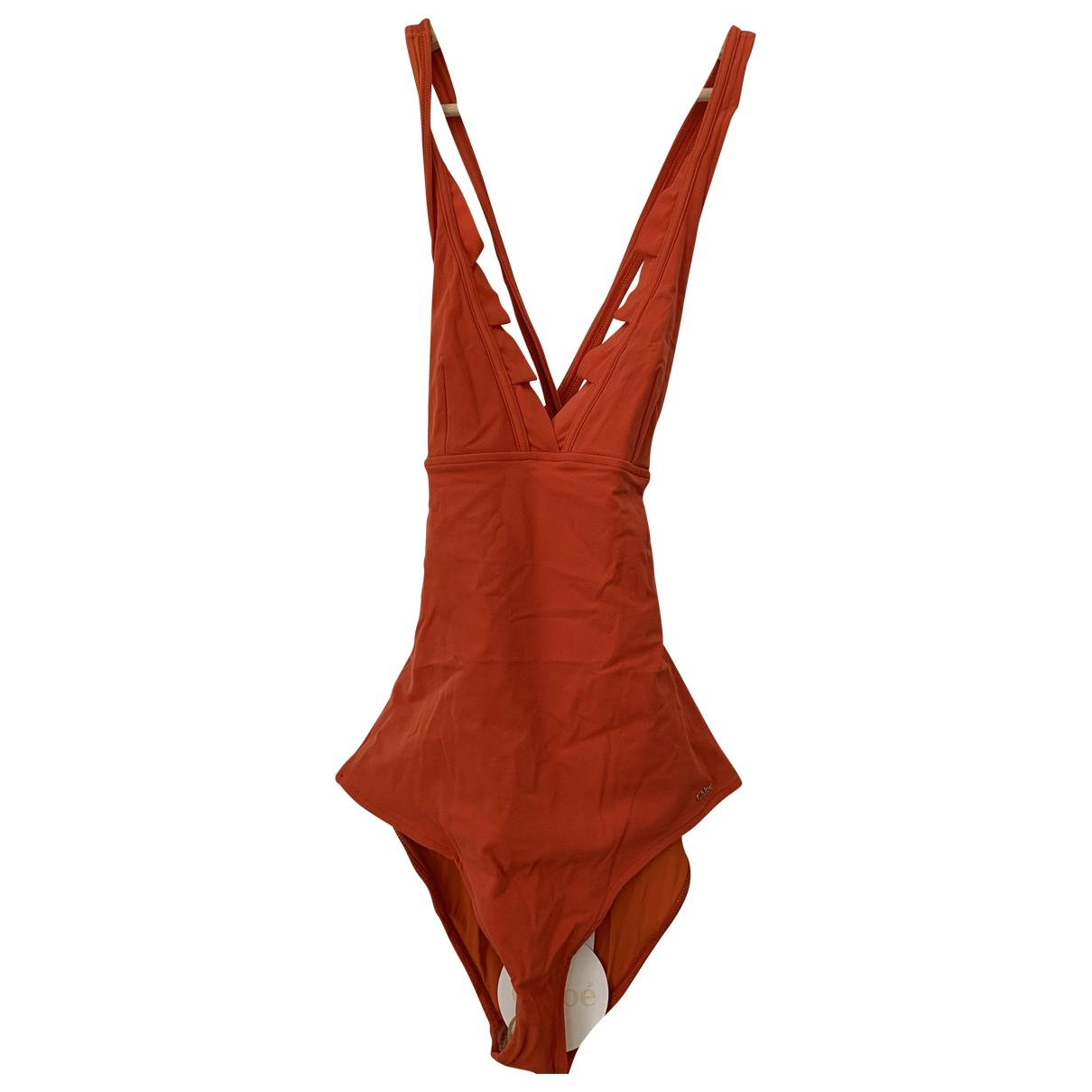 Chloe - Bain   pour femme en coton - elasthane - orange