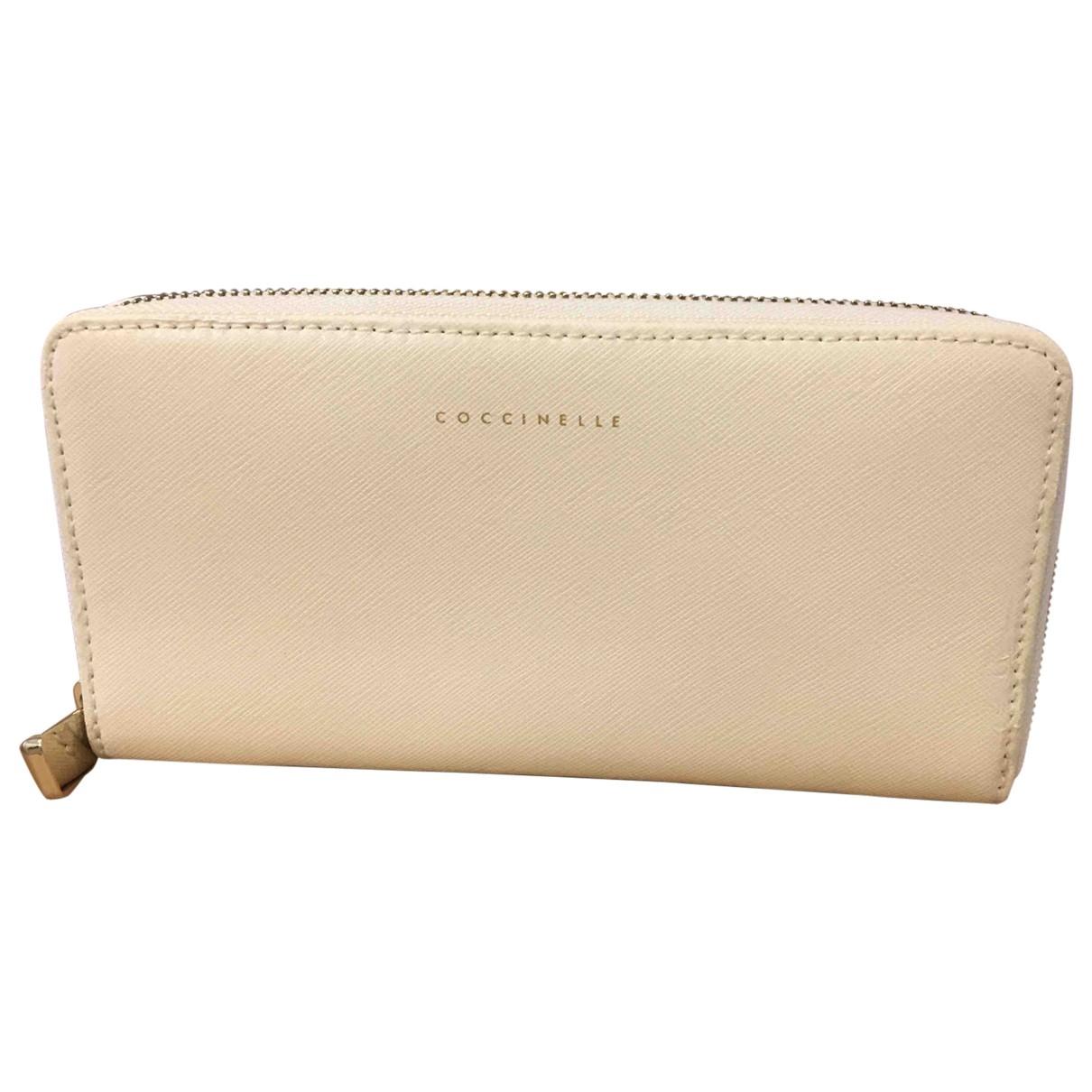 Coccinelle \N Ecru Leather wallet for Women \N