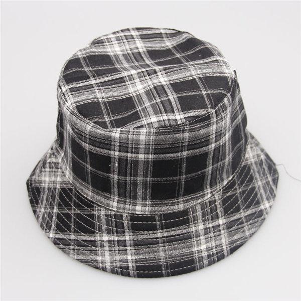 Men Women Lady Bucket Checks Boonie Plaid Hunting Fishing Outdoor Summer Cap Hat