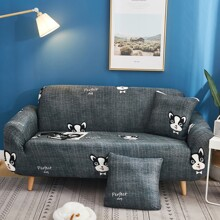 Cartoon Graphic Stretchy Sofa Cover Without Cushion