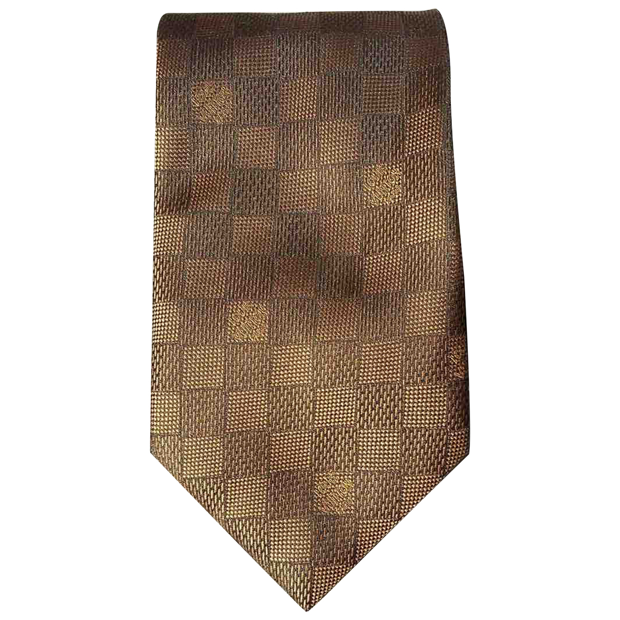 Louis Vuitton \N Krawatten in  Braun Seide