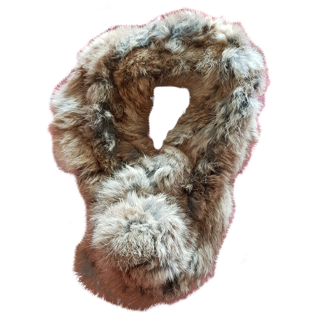 Non Signé / Unsigned \N Beige Rabbit scarf for Women \N