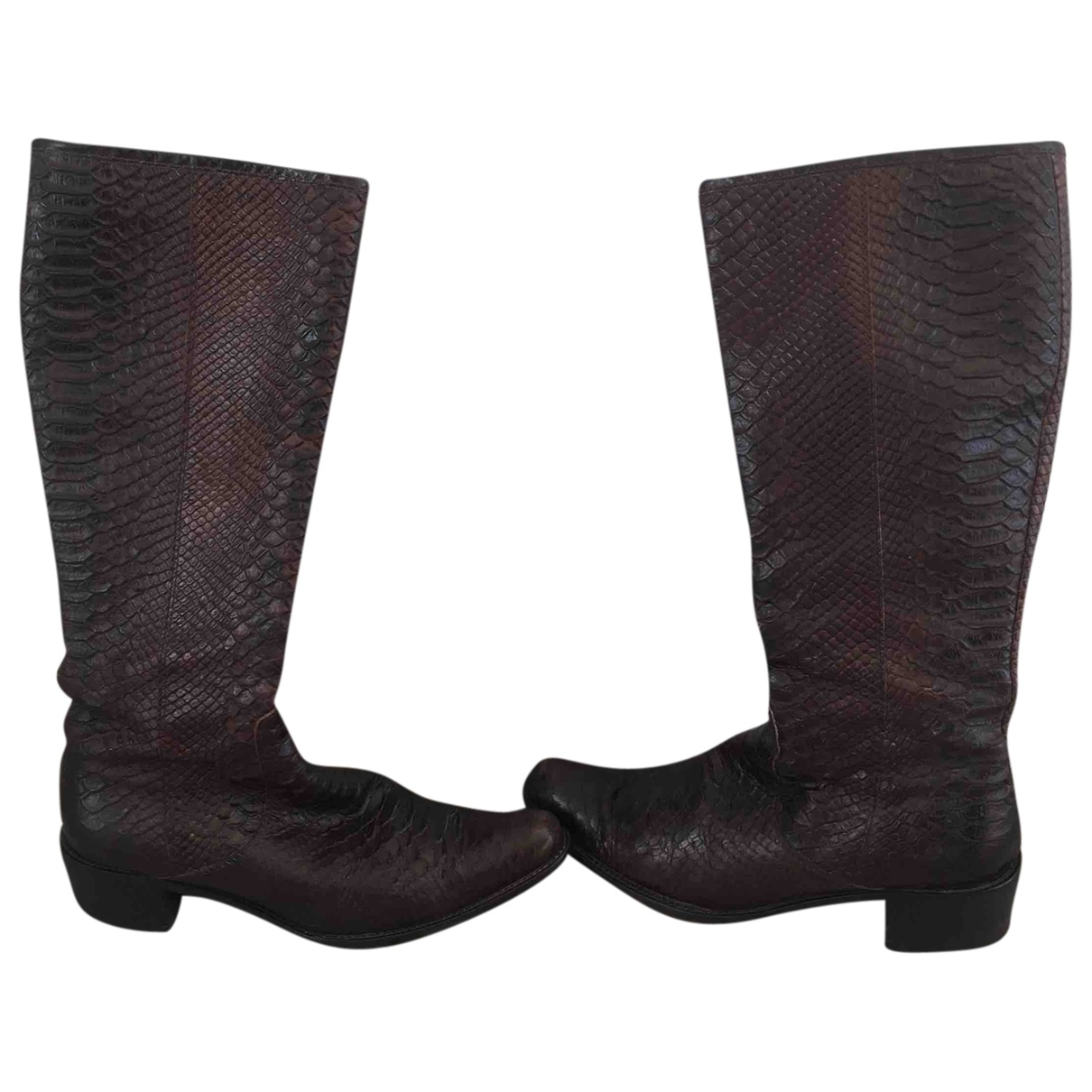 Coccinelle \N Brown Leather Ankle boots for Women 38 EU