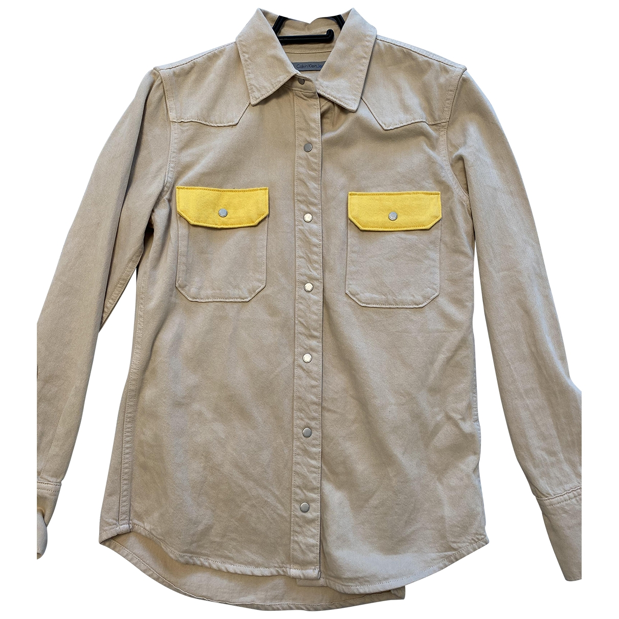 Calvin Klein - Top   pour femme en coton - beige
