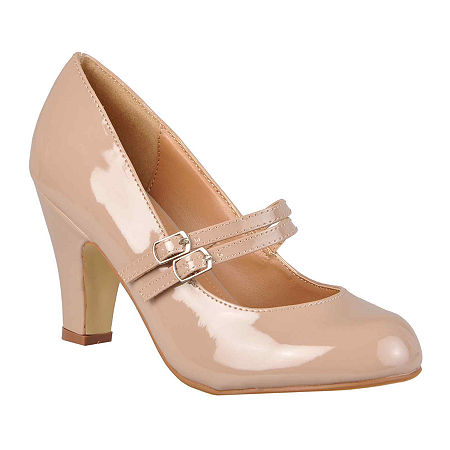 Journee Collection Womens Wendy Pumps, 7 Medium, Beige