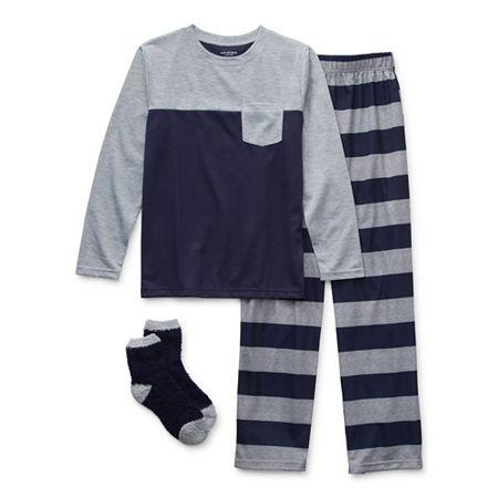 Arizona Little & Big Boys 2-pc. Pant Pajama Set, Small (8) , Blue
