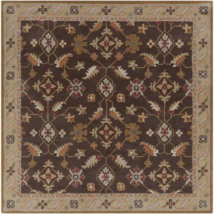 Caesar CAE-1083 4' Square Traditional Rug in