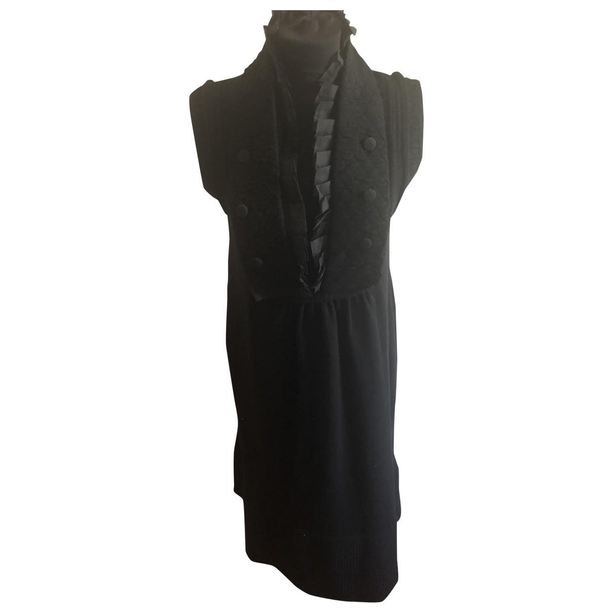 Pringle Of Scotland \N Kleid in  Schwarz Wolle