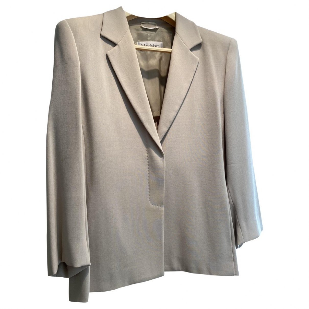 Max Mara \N Beige Wool jacket for Women 44 FR