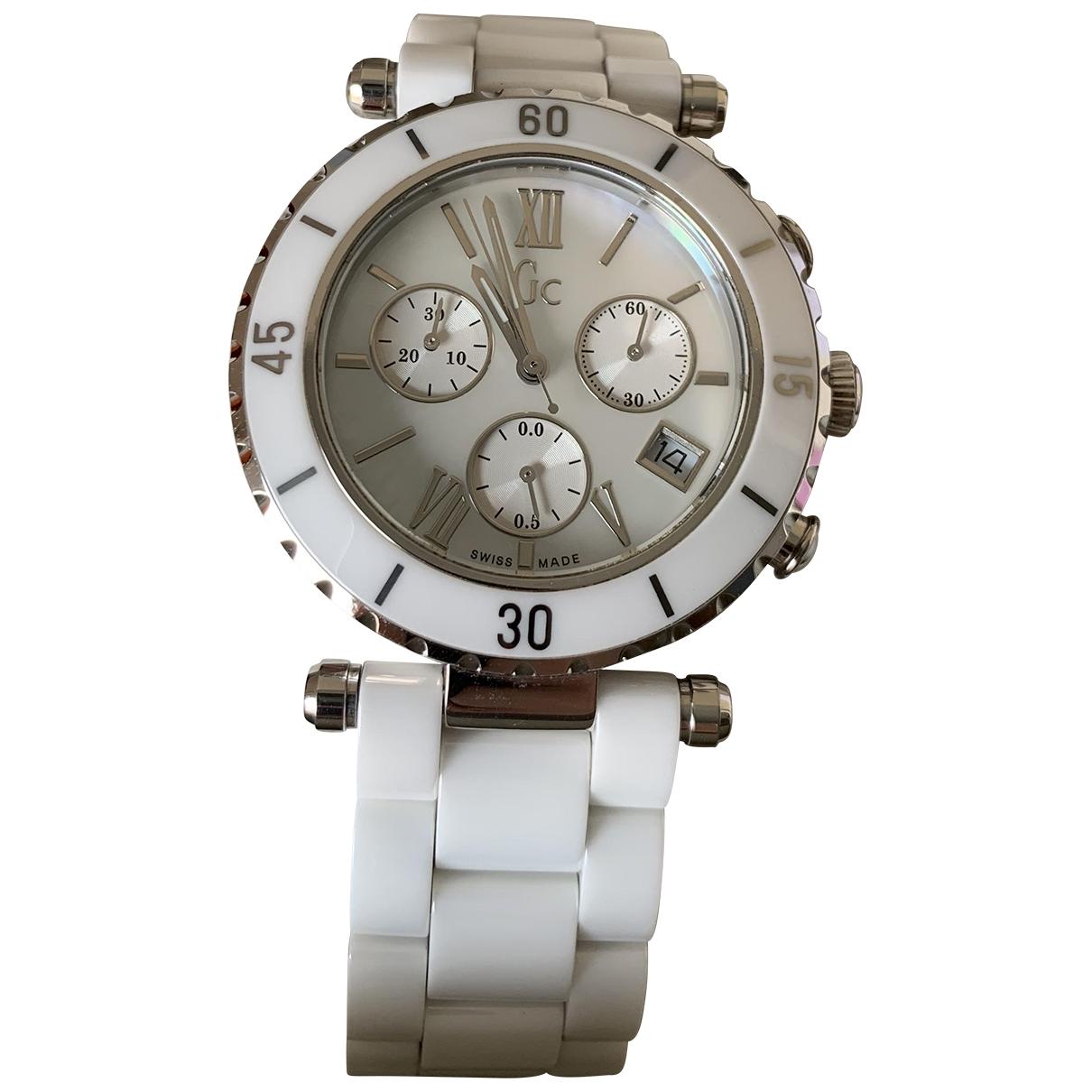 Guess \N Uhr in  Weiss Keramik