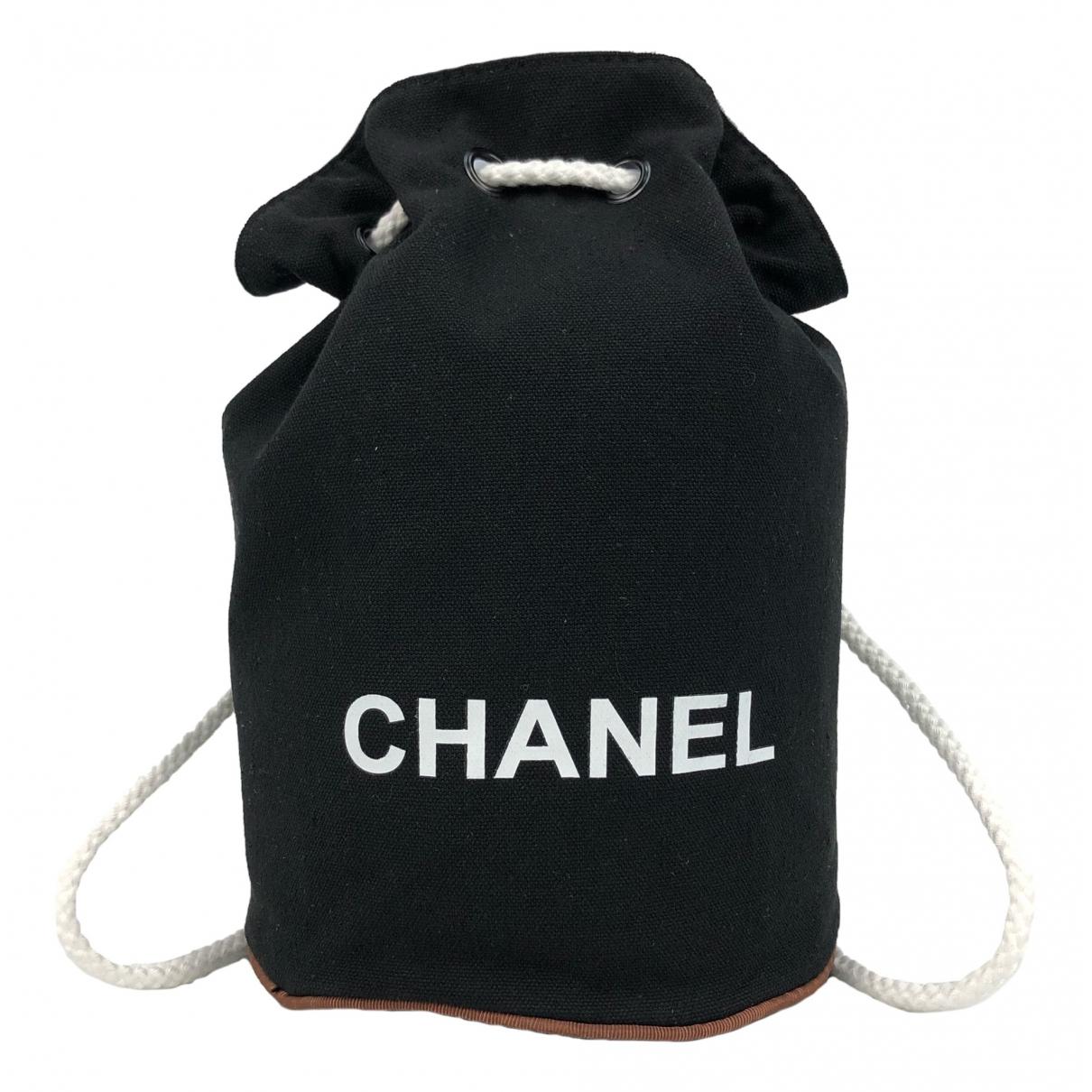Chanel \N Rucksaecke in  Schwarz Leinen