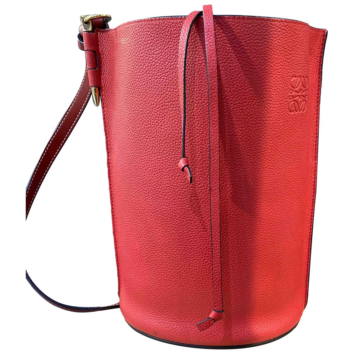 Loewe - Sac a main Gate Bucket pour femme en cuir - rouge