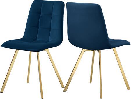 979NAVY-C Annie Navy Velvet Dining Chair (Set of