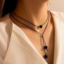 Bead Decor Layered Necklace