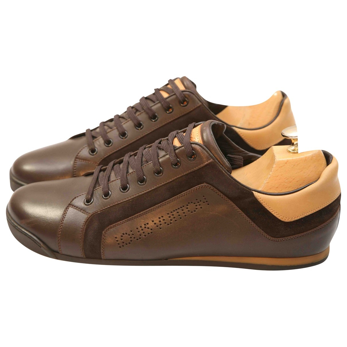 Louis Vuitton Clipper Brown Leather Trainers for Men 9 UK
