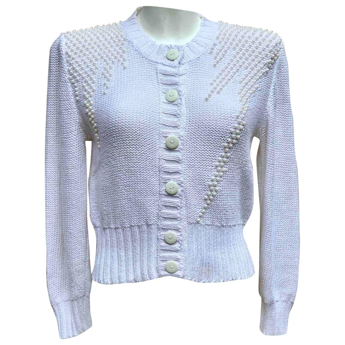 Krizia \N Pullover in  Weiss Baumwolle