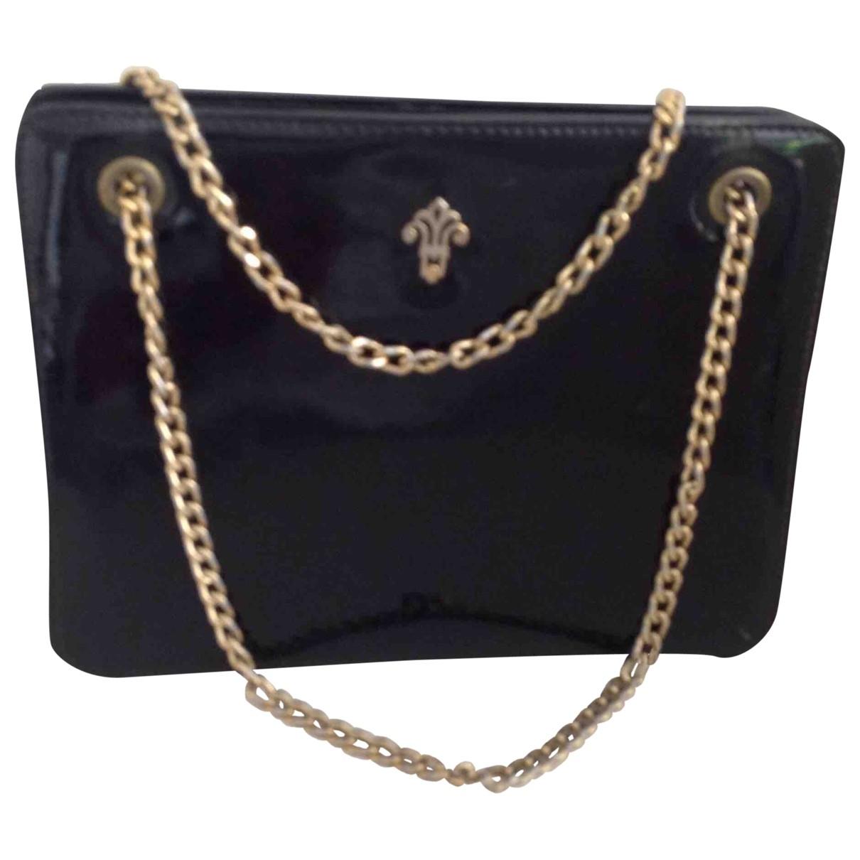 Non Signe / Unsigned \N Handtasche in  Schwarz Lackleder