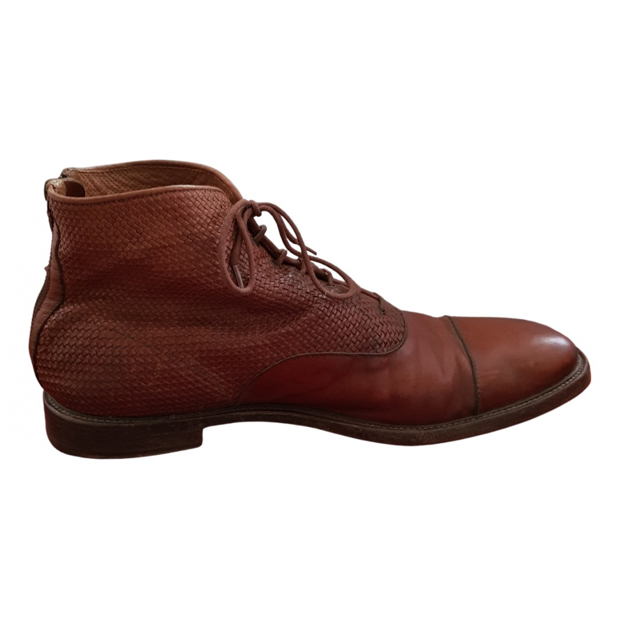 Fratelli Rossetti \N Stiefel in  Braun Leder