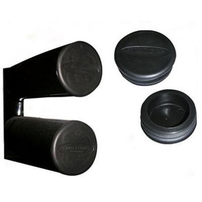 Smittybilt 3 Inch Tube Bumper End Caps (Black) - TA25