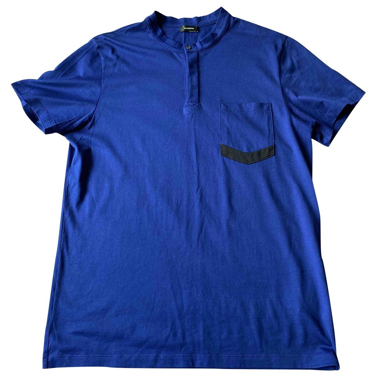 Jil Sander - Tee shirts   pour homme en coton - bleu