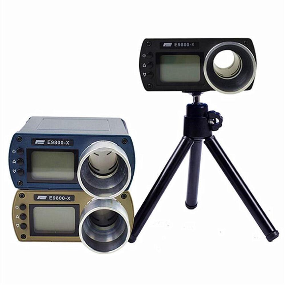 E9800-X Shooting Speed Tester High-Precision Shooting Chronograph -10C to 50C 0-500J Firing-Kinetic Energy LCD Screen