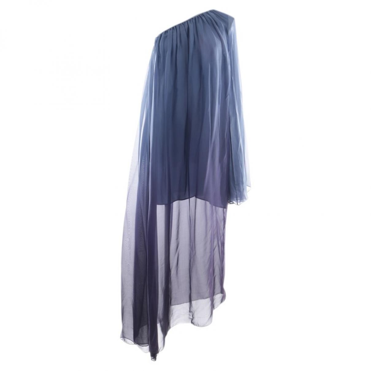 Caroline Constas \N Kleid in  Blau Seide