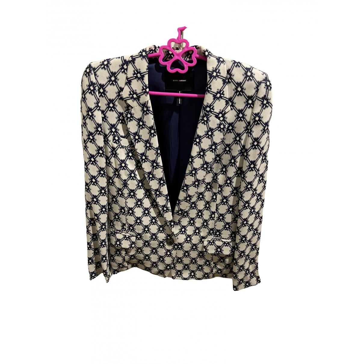 Isabel Marant \N Blue Silk jacket for Women 38 IT