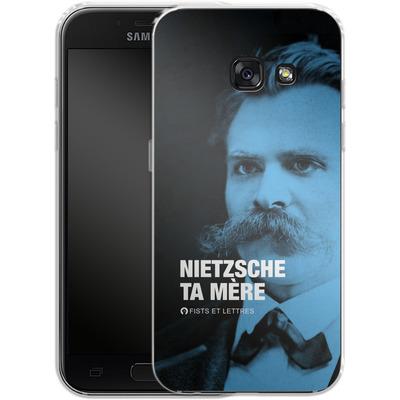 Samsung Galaxy A3 (2017) Silikon Handyhuelle - Nietzsche Ta Mere von Fists Et Lettres