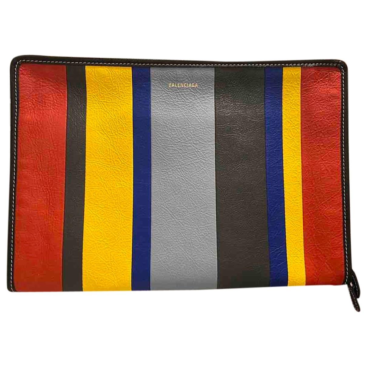 Balenciaga - Petite maroquinerie   pour homme en cuir - multicolore