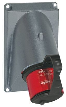 Legrand IP44 Red Wall Mount 3P+N+E Industrial Power Plug, Rated At 32.0A, 380 → 415 V