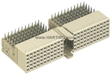 HARTING Har-Bus HM Series 2mm Pitch Backplane Connector, Female, Right Angle, 7 Row, 110 Way (10)