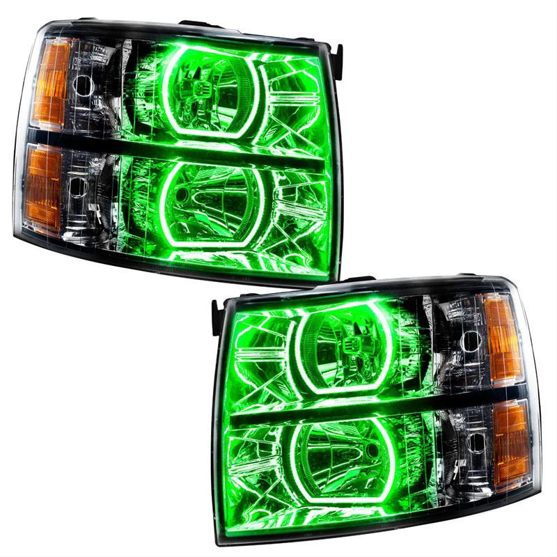 Oracle Lighting 8189-054 2007-2013 Chevrolet Silverado PLASMA HL - Black - Square Style