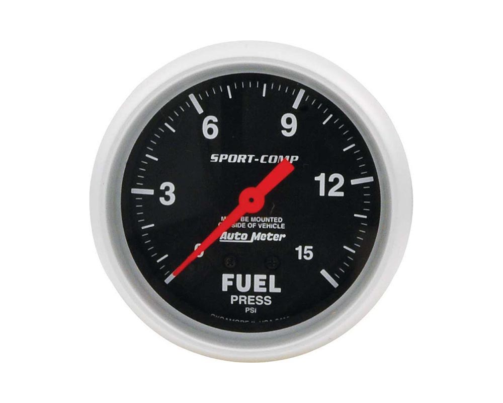 Allstar Performance ALL80134 Replacement ATM FP Gauge 15psi Sport Comp 2-5/8in ALL80134