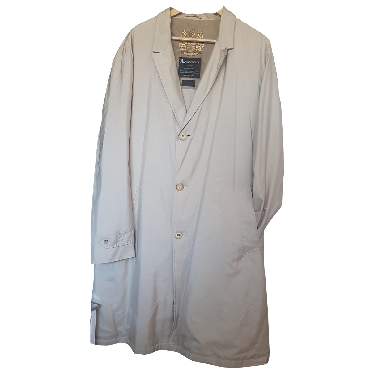 Aquascutum \N Beige Cloth coat  for Men 46 UK - US