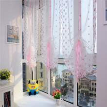 Flower Embroidery Single Panel Sheer Curtain